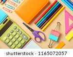 composition with different... | Shutterstock . vector #1165072057