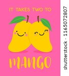 cute couple mango cartoon... | Shutterstock .eps vector #1165072807