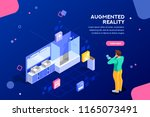 augmented reality visualization ... | Shutterstock . vector #1165073491