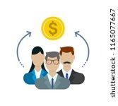 sharing economy concept ... | Shutterstock .eps vector #1165077667