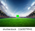 stadium sunny day. with people... | Shutterstock . vector #1165079941