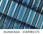 transparent wall reflecting... | Shutterstock . vector #1165081171