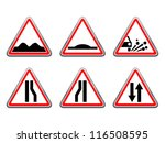 road signs set. raster version... | Shutterstock . vector #116508595