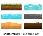 color cross section of ground...   Shutterstock .eps vector #1165086124