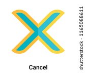 cancel icon vector isolated on... | Shutterstock .eps vector #1165088611