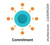 commitment icon vector isolated ... | Shutterstock .eps vector #1165090204
