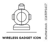wireless gadget icon vector...   Shutterstock .eps vector #1165091617