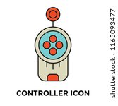 controller icon vector isolated ... | Shutterstock .eps vector #1165093477