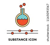 substance icon vector isolated... | Shutterstock .eps vector #1165093567