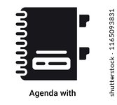 agenda with bookmarks icon... | Shutterstock .eps vector #1165093831