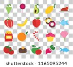 set of 20 transparent icons... | Shutterstock .eps vector #1165095244