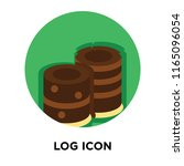 log icon vector isolated on... | Shutterstock .eps vector #1165096054