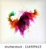 colorful background with floral ...