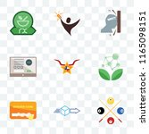 set of 9 transparent icons such ... | Shutterstock .eps vector #1165098151