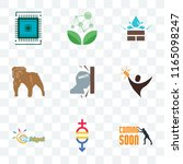 set of 9 transparent icons such ... | Shutterstock .eps vector #1165098247
