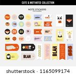set of planners and to do lists ... | Shutterstock .eps vector #1165099174