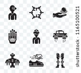 set of 9 transparent icons such ... | Shutterstock .eps vector #1165100521