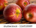 red royal gala apples on place... | Shutterstock . vector #116510089