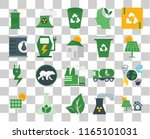 set of 20 transparent icons... | Shutterstock .eps vector #1165101031