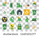 set of 20 transparent icons... | Shutterstock .eps vector #1165101277