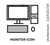 monitor icon vector isolated on ... | Shutterstock .eps vector #1165101724
