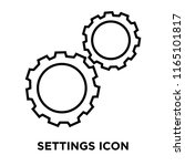 settings icon vector isolated... | Shutterstock .eps vector #1165101817