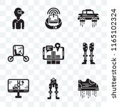 set of 9 transparent icons such ... | Shutterstock .eps vector #1165102324