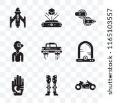 set of 9 transparent icons such ... | Shutterstock .eps vector #1165103557