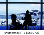 silhouette travelling peoples... | Shutterstock . vector #116510731