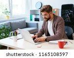 young startup entrepreneur...   Shutterstock . vector #1165108597