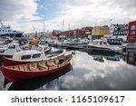 torshavn is the capital and... | Shutterstock . vector #1165109617