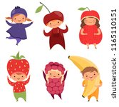 fruits costumes. carnival... | Shutterstock .eps vector #1165110151