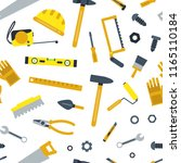 vector flat construction tools... | Shutterstock .eps vector #1165110184
