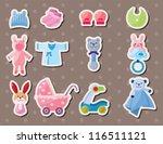 baby stuff stickers | Shutterstock .eps vector #116511121
