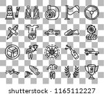 set of 20 transparent icons... | Shutterstock .eps vector #1165112227