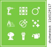 9 gas vector icon set with... | Shutterstock .eps vector #1165129117