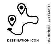 destination icon vector... | Shutterstock .eps vector #1165130464