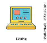 setting icon vector isolated on ... | Shutterstock .eps vector #1165132204