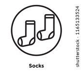 socks icon vector isolated on... | Shutterstock .eps vector #1165133524
