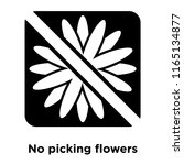 no picking flowers icon vector... | Shutterstock .eps vector #1165134877