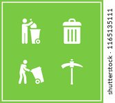 trash icon. this set with... | Shutterstock .eps vector #1165135111