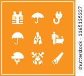 protective icon. this set with... | Shutterstock .eps vector #1165135327