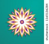 abstract paper cut design... | Shutterstock .eps vector #1165136284