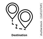 destination icon vector... | Shutterstock .eps vector #1165137691
