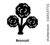 broccoli icon vector isolated... | Shutterstock .eps vector #1165137721