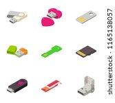 portable disk icons set....   Shutterstock .eps vector #1165138057