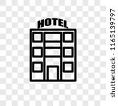 motel vector icon isolated on... | Shutterstock .eps vector #1165139797