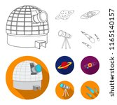 observatory with radio... | Shutterstock .eps vector #1165140157