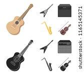 electric guitar  loudspeaker ... | Shutterstock .eps vector #1165145371