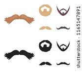 mustache and beard  hairstyles... | Shutterstock .eps vector #1165147891